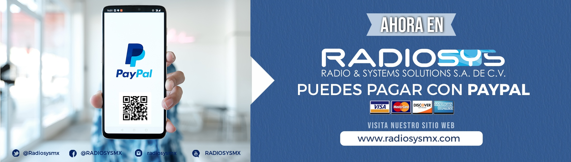 PAGO PAYPAL RADIOSYS